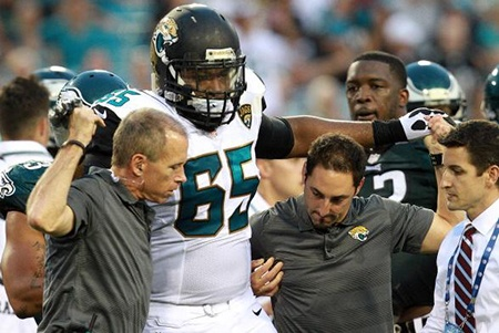 Dr. Kaplan on the Field with the Jaguars